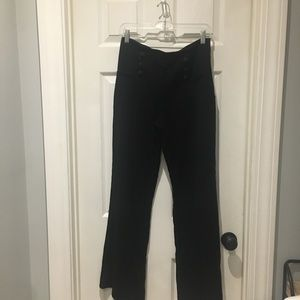 Lafayette 148 black wool trouser pants SZ 8 NWOT